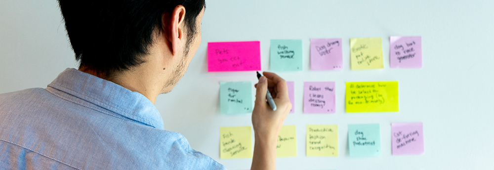 Connector dot voting on sticky notes